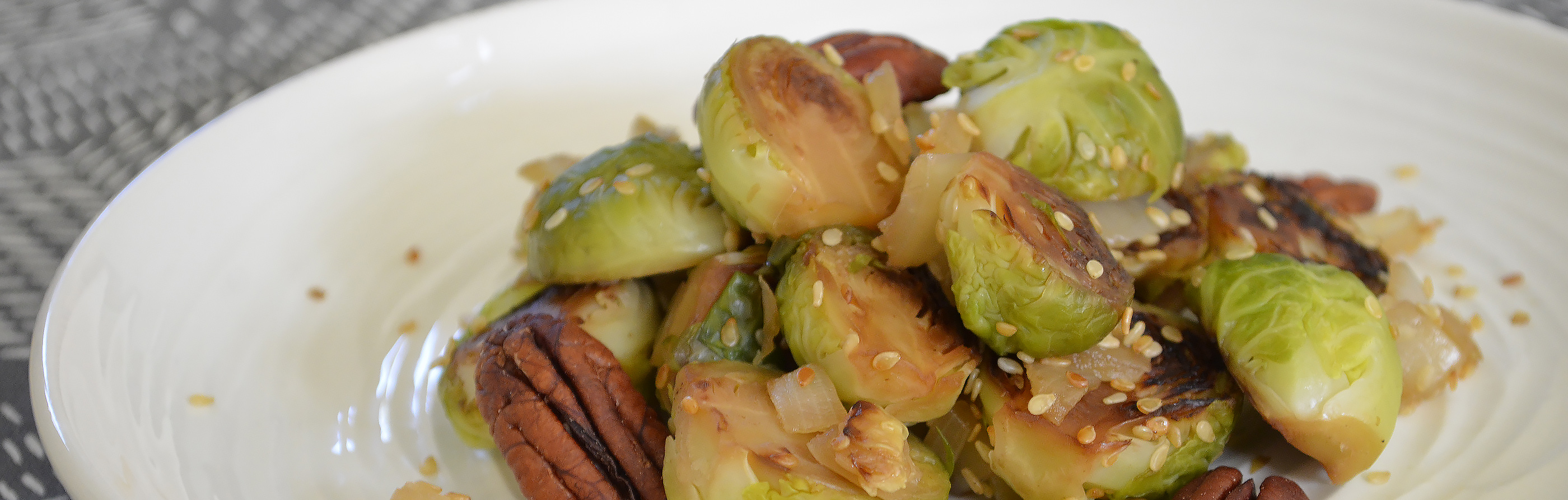 Sautéed Brussels Sprouts with Caramelized Onions