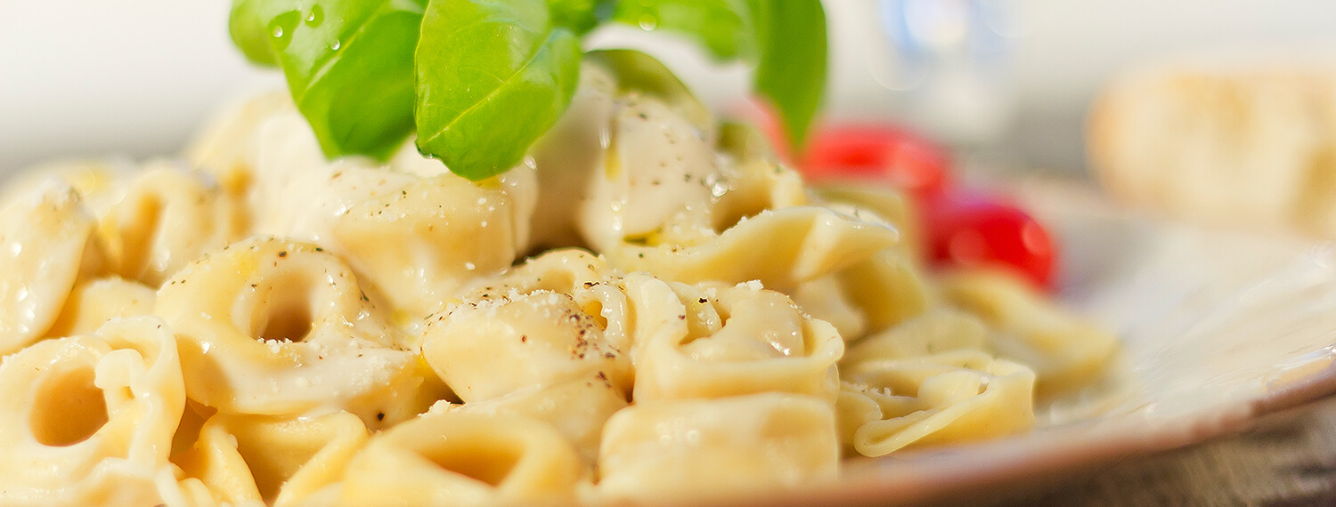 Homemade Spinach Tortellini With White Wine Sauce